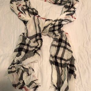 Accessories - Faux Burberry Plaid Scarf-Lightweight Plaid